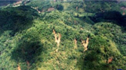 พฤษภาคม : โคลนถล่มบริเวณ จ.ตาก และ จ.แม่ฮ่องสอน ปี 2547